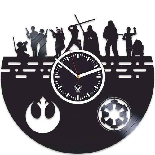 Kovides Star Wars Gift, Vinyl Wall Clock, Vinyl Record Clock, Srar Wars Clock, Gift For Man, Birthday Gift, Star Wars, Darth Vader Gift, Best Gift for Boyfriend, Gift For Kids, Wall Clock Large