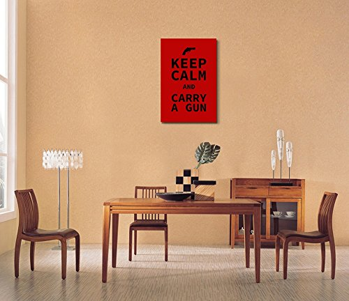 Keep Calm and Carry a Gun Wall Decor Stretched
