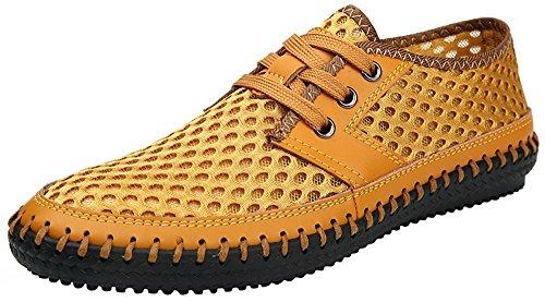XIN BARLEY Männer Poseidon Slip-On Loafers Wasser Schuhe Casual Wanderschuhe Gelb