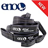 ENO, Eagles Nest Outfitters Atlas Hammock Straps, Suspension System with Storage Bag, 400 LB Capacity, 9' x 1.5/.75""