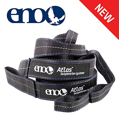 ENO - Eagles Nest Outfitters Atlas Hammock Straps, Suspension System with Storage Bag, 400 LB Capacity, 9' x 1.5/.75""