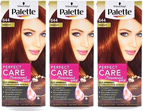 Schwarzkopf Palette 644 - Tinte permanente para el pelo, 3 ...