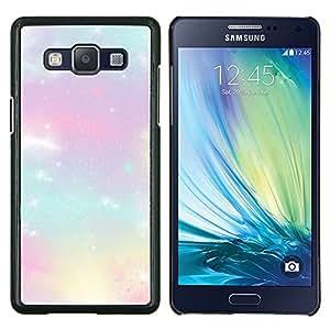 TECHCASE---Cubierta de la caja de protección para la piel dura ** Samsung Galaxy A5 ( A5000 ) 2014 Version ** --estrellas nubes púrpuras cosmos nebulosa