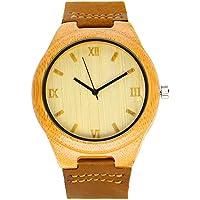 iBigboy Bamboo Wood Watch Wooden Gift Accessories Watches Men's Wristwatch Quartz Movement IB-1600Dc