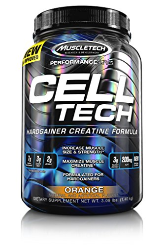 MuscleTech Cell Tech, Hardgainer Creatine Formula, Orange, 3.00 lbs (1.36kg)