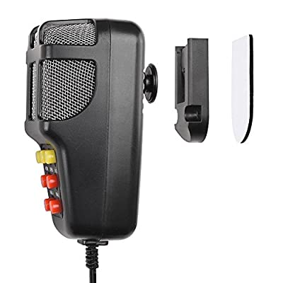 Yescom 7 Sound Loud Horn Car Warning Alarm Police Fire Siren PA Speaker with Microphone Emergency Amplifier