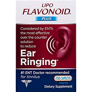 Lipo-Flavonoid Plus Ear Health Supplement | 150 Caplets | #1 ENT Doctor Recommended for Ear Ringing | Most Effective Over The Counter Tinnitus Treatment