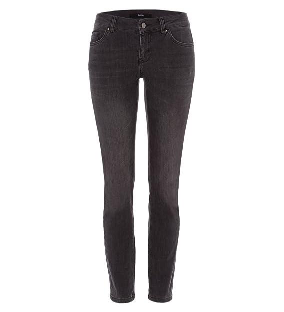 a6e1b4c8d44e zero Damen Jeans mit Stickerei 30 Inch 302693 grey d with star pr 44 ...