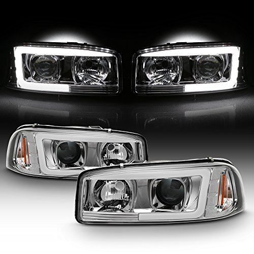 2000 3500 Gmc - For 1999-2006 GMC Sierra 1500 2500HD 3500 C3 Yukon XL Tube LED Projector Headlights Driver+Passenger Side Pair