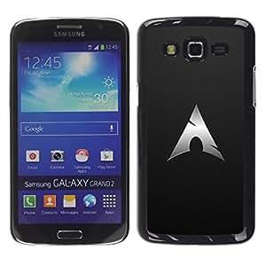 TopCaseStore / la caja del caucho duro de la cubierta de protección de la piel - Cool Black Speared Tip Metal Goth - Samsung Galaxy Grand 2 SM-G7102 SM-G7105