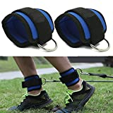 Zinnor Fitness Ankle Straps for Cable Machines and Resistance Band Plus Carry Bag for Weightlifting Workout Ab, Leg & Glute Exercises