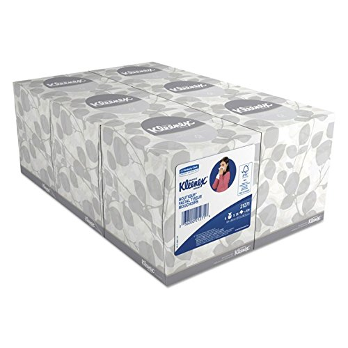 """Kimberly-Clark 21271 Kleenex Boutique Facial Tissue Mouchoirs, 8.4"""" Length x 8"""" Width, White, 6 Boxes of 95 sheets (Pack of 570)"""