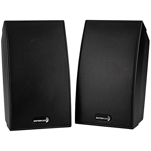 Dayton Audio SAT-BK Satellite Speaker Pair - Black