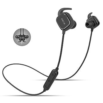 QCY qy12 Bluetooth 4.1 inalámbrico auriculares deporte auriculares con cancelación de ruido/APT-X para iPhone 6S Plus/se - negro: Amazon.es: Electrónica