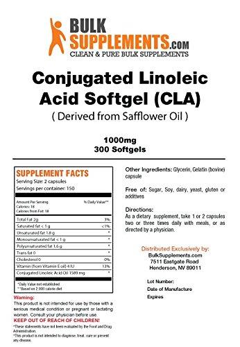 BulkSupplements CLA Softgels (1000mg) (Conjugated Linoleic Acid)