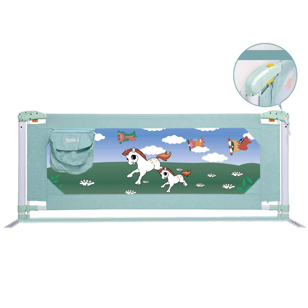 HUO 子供用ベッドガードレールベビーシャッター抵抗性の安全用ベッドバリアー - グリーン-1.5 / 1.8 / 2.0M (サイズ さいず : 150cm) 150cm  B07L744BVM