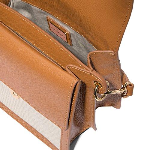 Pelle Borsa Cotone E Coccinelle cuir Donna Natural Colore Ambrine Bj8120101423 XBtRdw