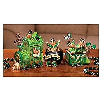 Celebrating Leprechaun Express Train St Patrick s Day Tabletop Home Accent Decoration