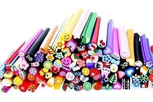 BONAMART ® Premium MASH 100 Pc Nail Art Nailart 3d Manicure Design Sticks Rods Stickers Gel Tips