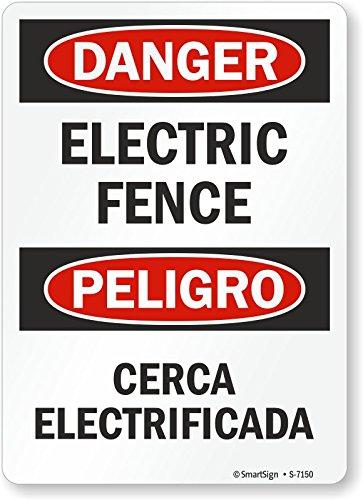 1/2 Aluminum Fence - Smartsign S-7150-AL-12x18