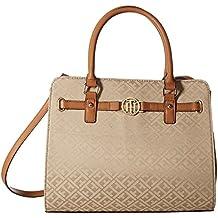 Tommy Hilfiger Heidi Satchel Convertible Shopper Tote Shoulder Bag