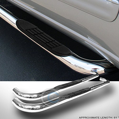 S /& T RACING INC 3 Chrome Side Step NERF Bars Running Boards 82-03 for Chevy S10//SONOMA Extended CAB