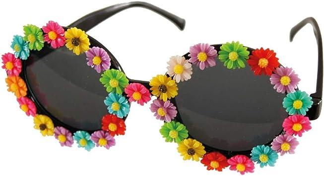 NET TOYS Lindos Lentes Hippie con Flores Coloridas - Encantador ...