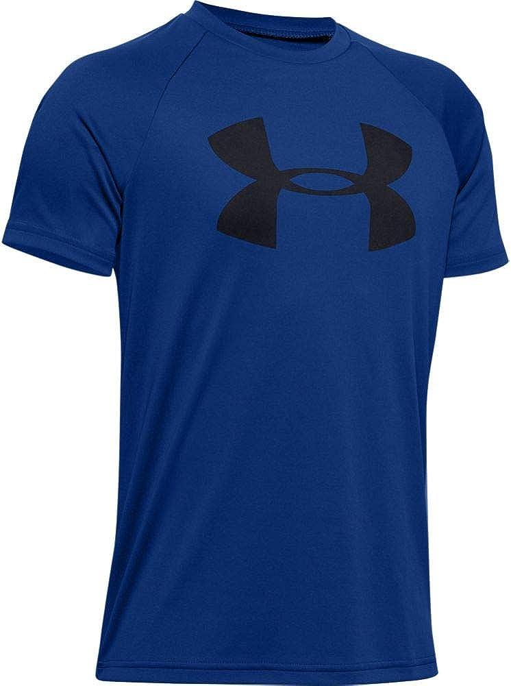 Under Armour Boys' Tech Big Logo Short Sleeve Gym T-Shirt: Clothing