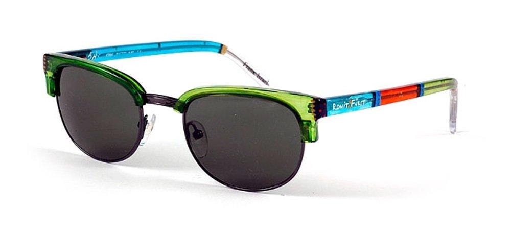 Ronit Furst Model 4708 Shiny Sunglass Eyewear (Green) by Ronit Furst