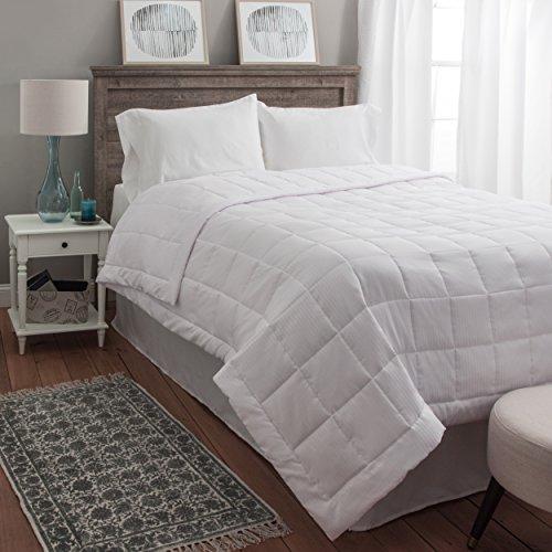 White Goose Down Alternative All Seasons Blanket & Comforter - Super Oversized - Hypoallergenic - Plush Comfort Oversized King (110 x 100 Inches) (Season Blanket)