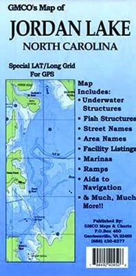 GMCO Jordan Lake Map, North Carolina, Folded