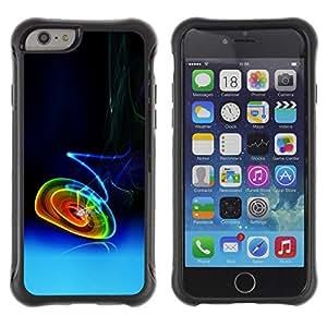 Suave TPU Caso Carcasa de Caucho Funda para Apple Iphone 6 PLUS 5.5 / Smoking Neon Circles / STRONG