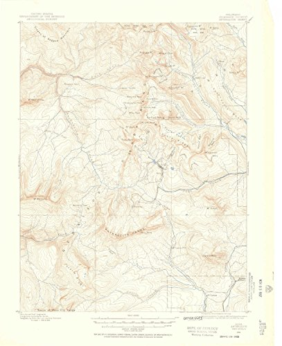 Anthracite CO topo map, 1:62500 scale, 15 X 15 Minute, Historical, 1888, updated 1956, 20.9 x 17 IN - Tyvek (Augusta Fifteen Light)