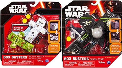 Star Wars Death Star + Box Busters Battle of Hoth Mini Spaceship Set + Battle of Naboo blocks toy Bundle