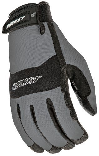 Joe Rocket RX14 Crew Touch Men's Motorcycle Riding Gloves (Gunmetal/Black, XX-Large)