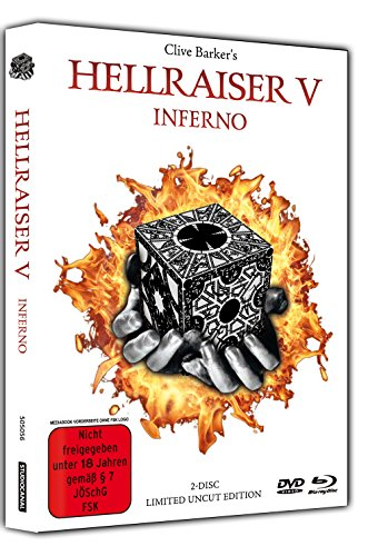 Hellraiser 5 - Inferno - Limited Uncut 2-Disc Mediabook (DVD+Blu-ray Disc) - White Edition [Limited Edition] [Import - Two Hellraiser Blu Ray