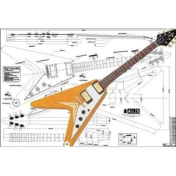 amazon com plan of gibson flying v korina electric guitar gibson flying v wiring diagram flying v w vintage wiring scheme youtube