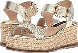 STEVEN by Steve Madden Women's Sabble Wedge Sandal, Gold Leather, 6.5 M US