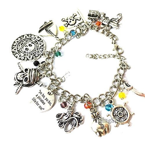 Pirates of The Caribbean Bracelet - Jewelry Merchandise POTC Jack Sparrow Girls Women ()