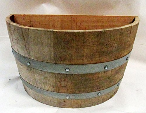 MGP Oak Wood Qarter Wine Barrel Planter Handcrafted From Used Wine Barrels, 26