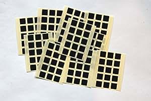 150 Cuadrado Adhesivos - Adhesivo Teñido Autoadhesivo Cuadrados para color Codificación - Negro