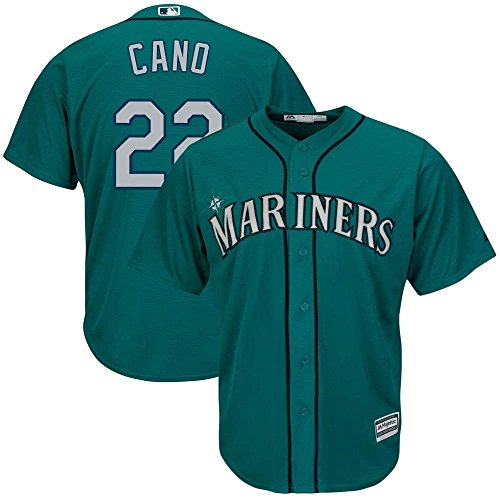 Mariners Youth Replica Jersey - Majestic Robinson Cano Seattle Mariners MLB Youth Aqua Alternate Cool Base Replica Jersey (Youth Small 8)