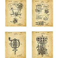 Ford Patent Wall Art Prints - set of Four (8x10) Unframed - wall art for car lovers