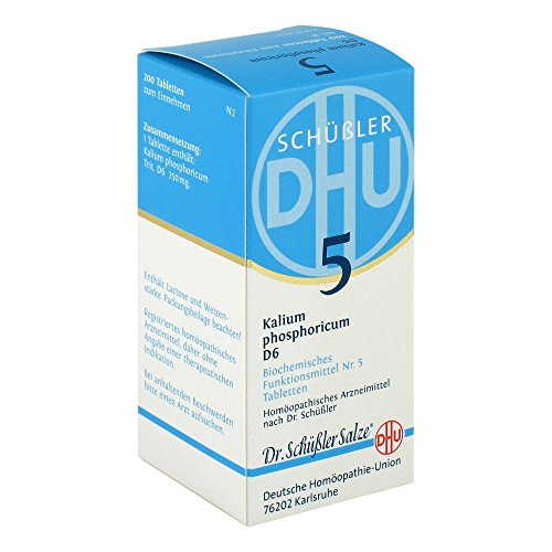 DHU Schüßler-Salz Nr. 5 Kalium phosphoricum D6 Tabletten, 200 St. Tabletten