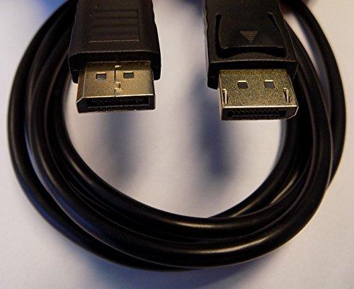BBT@   Displayport zu Displayport Verbindungskabel 2 Meter   Stecker zu Stecker   20 Pin inklusive Audio-Übertragung   Vergoldete Kontakte