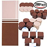 288 Piece Premium Furniture Felt Pads Maveek Furniture Feet Pads Brown 169 + Beige 119 Various Sizes Best Wood Floor Protectors Felt Furniture Coasters Protect Your Hardwood & Laminate Flooring