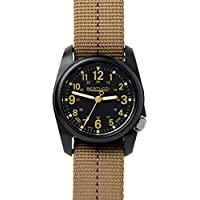 Bertucci DX3 Field Resin Watch, Dash-Striped Drab Nylon Strap, Black Dial - 11041