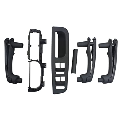 Folconroad oe# 3B0867175 6pcs Negro Manija de la puerta interior para Jetta Golf MK4