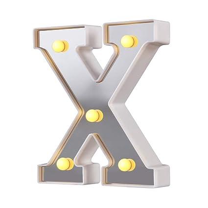 Amazon.com: Letrero con luces LED para carteles, 26 letras ...