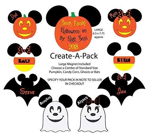 Halloween Family Magnet Pack for Disney Cruise Door - Create Your Pack Size
